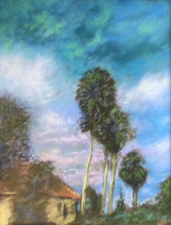 Four Palms by artist Lisa Wright