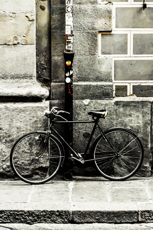 Lone Bicycle (2) by artist Michael Wright
