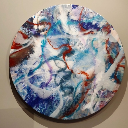 untitled round by artist lacy husmann