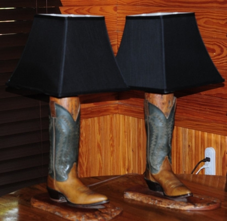 Boot Lamps by artist lenard fisher