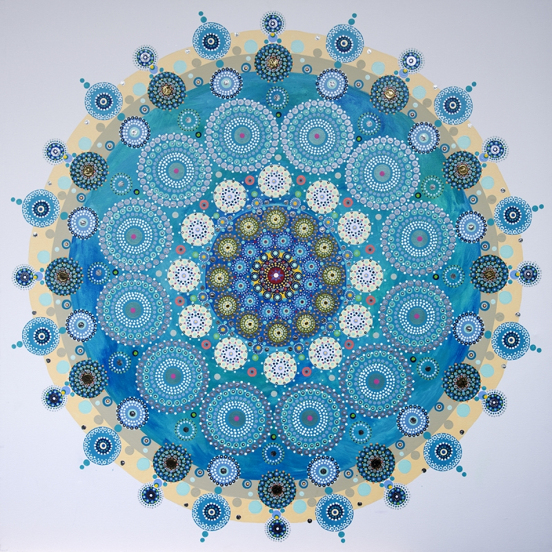 Mandala to the Oceans by artist Kim van Rijswijck