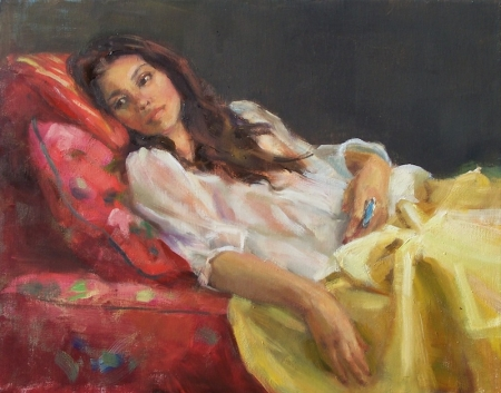 Liliane Lounging by artist Eve Larson