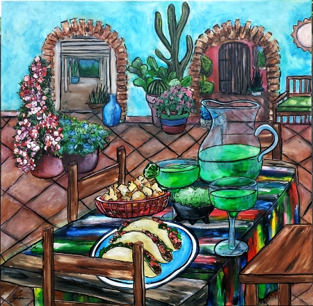 Tacos and Tequila by artist Shannon Fannin