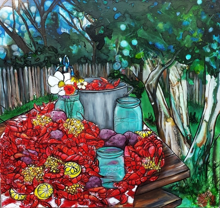 Moonshine and Mudbugs by artist Shannon Fannin